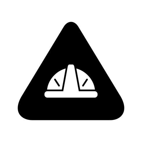 Under construction sign glyph black icon