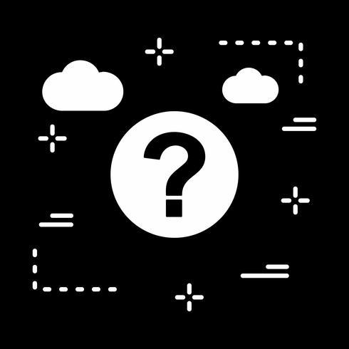 icono de pregunta de vector