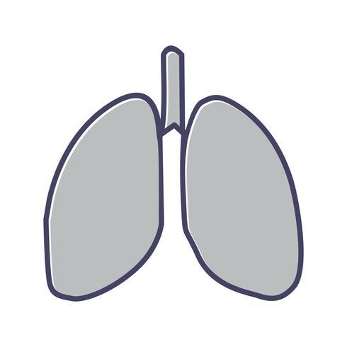 Lungenlinie gefülltes Symbol