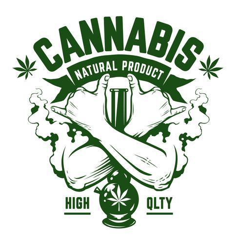 Emblema del vector de cannabis