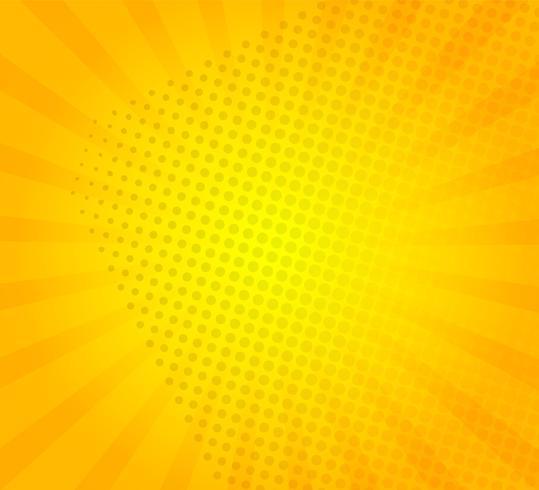 Solburst på gul bakgrund.