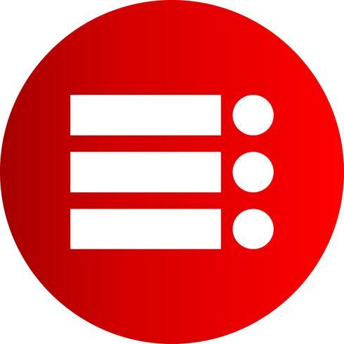 Vector lijst pictogram