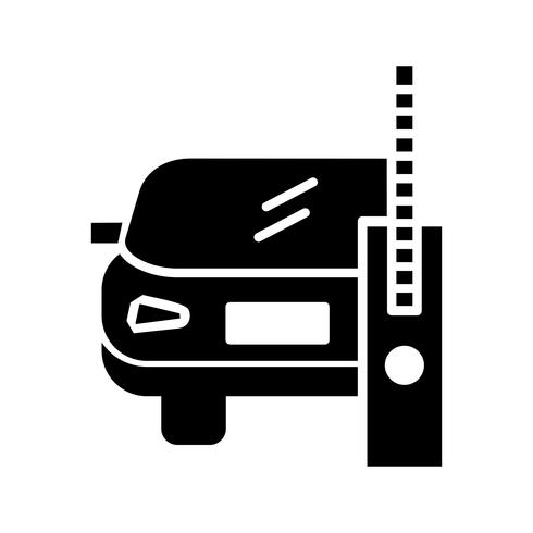 Car glyph black icon
