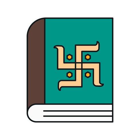 icona del libro di diwali vettoriale