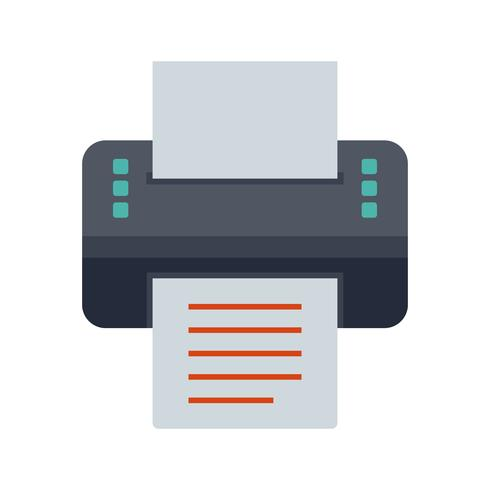 Printer platte pictogram