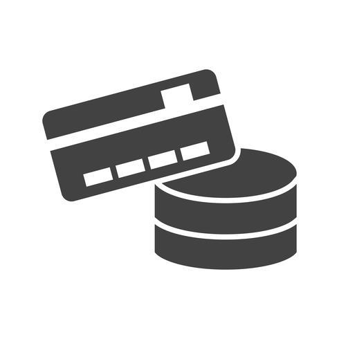 Método de pago glifo negro icono