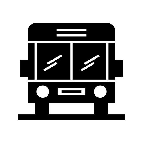 School bus glyph black icon