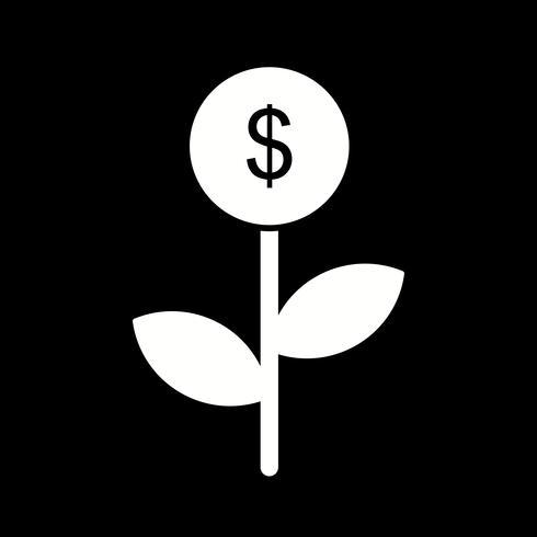 ícone de planta de dólar de vetor