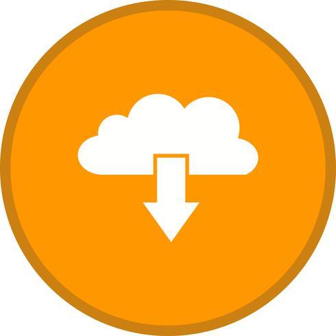 Cloud download glyph ronde cirkel multikleur vector