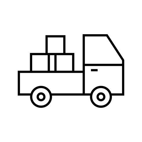 Pickup lijn zwart pictogram