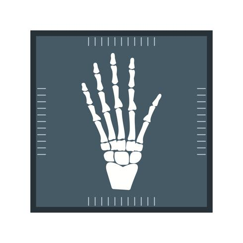 Hand X-ray glyph pictogram