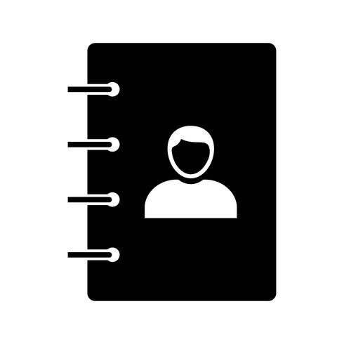 Ícone negro de glifo de contatos vetor