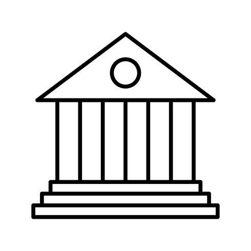 Icona della linea nera della banca