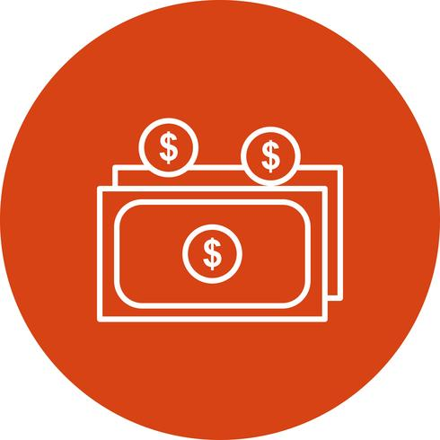 Icona di valuta vettoriale