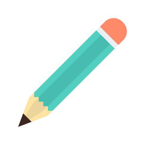 Lápis ícone plana vetor