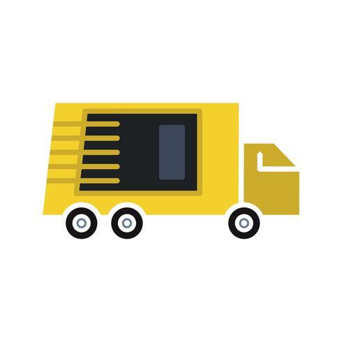 Truck platte multi kleur pictogram