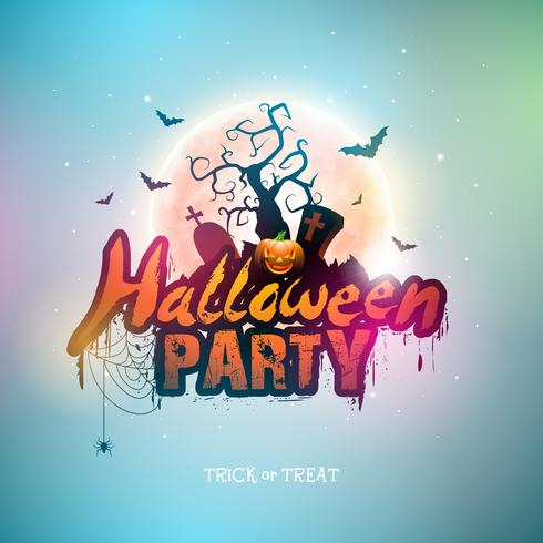 Lycklig Halloween banner illustration