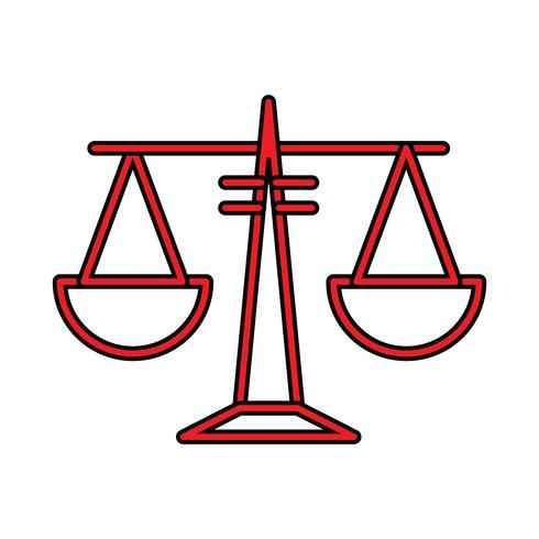 Equilibrio perfecto icono vector o ilustración de Pigtogram en estilo lleno
