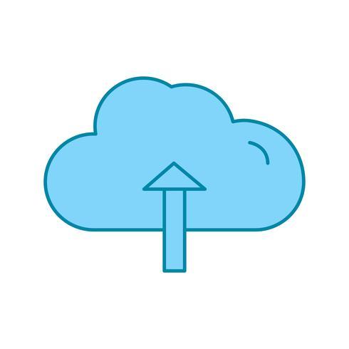 icono de carga en la nube de vectores