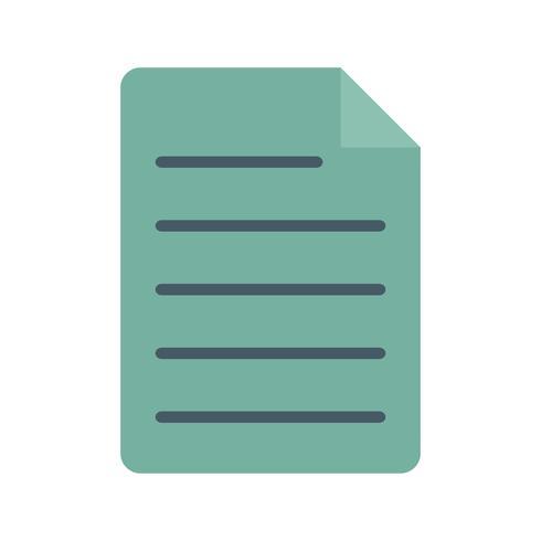 Dokument platt multi-färgikonen