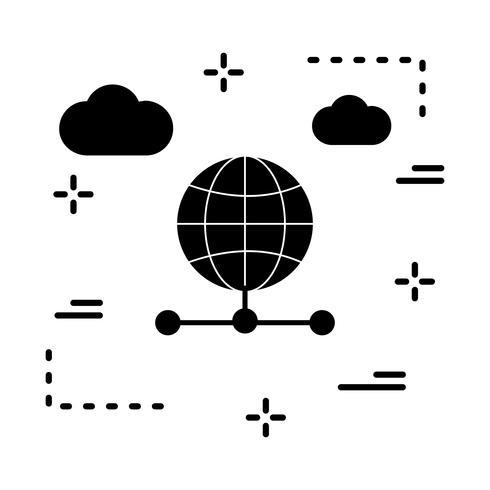 icona globale del server vettoriale