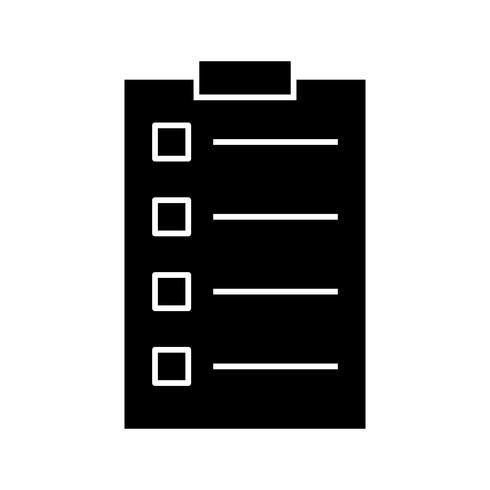 Icono de glifo negro de tareas