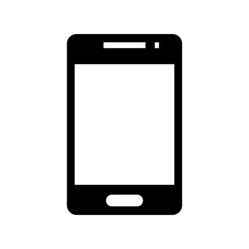 Ícone de glifo preto de telefone vetor