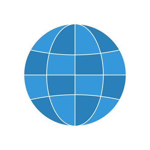 Icona di colore piatto multi globo