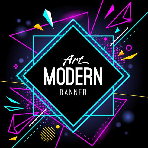 Banner de arte moderna vetor