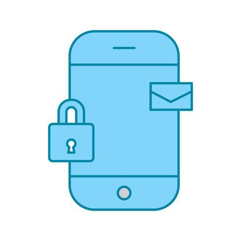 ícone de mensagem móvel de vetor