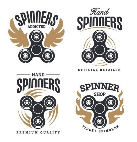 Logotipo de Spinner emblemas vector