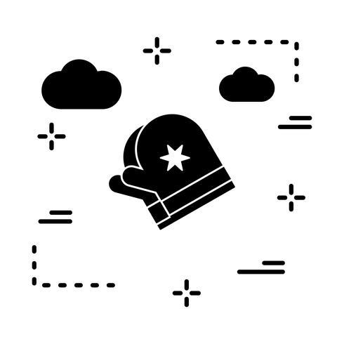 icono de guantes vectoriales vector