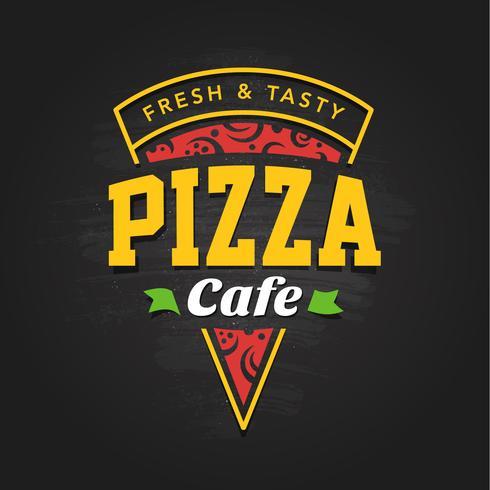 Plantilla de logotipo de pizzería