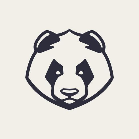 Ícone de vetor de mascote de panda