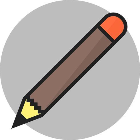 Bleistift runden Kreis Multi Farbe vektor