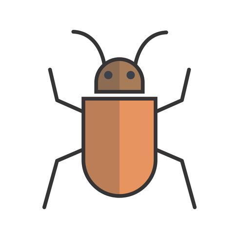 Ícone preenchido com linha de bugs vetor