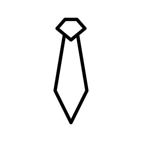 Tie lijn zwart pictogram