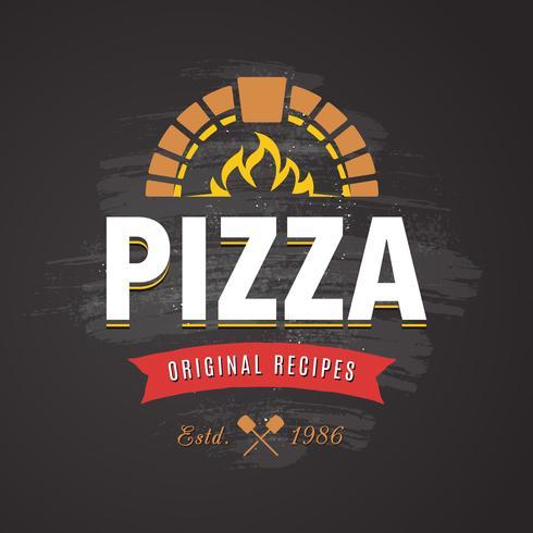 Pizza Vector Emblem
