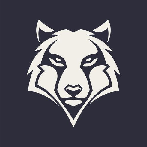 Wolf-Maskottchen-Vektor-Symbol vektor