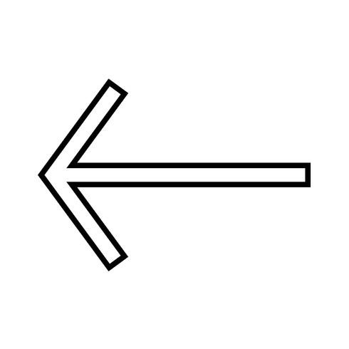 Left arrow line black icon