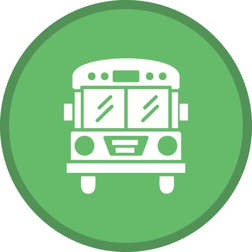 Bus filled icon vector