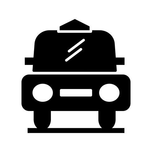 Cab glyph zwart pictogram