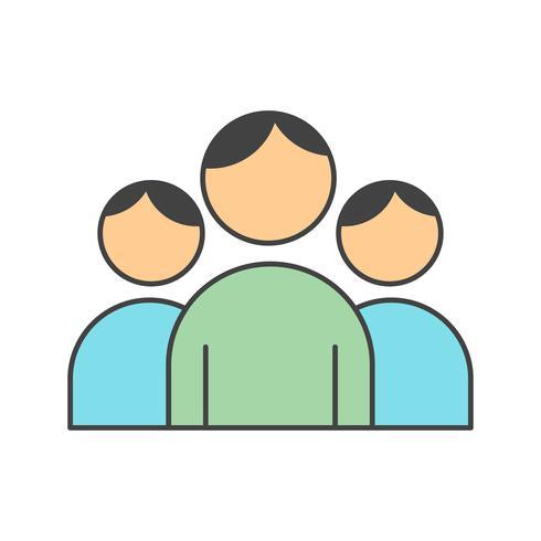 ícone de usuários de vetor