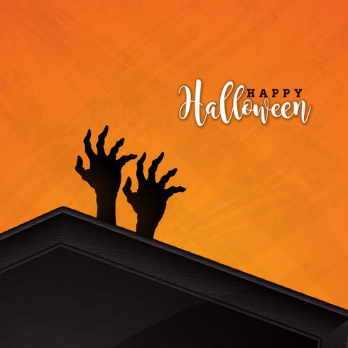 Happy Halloween banner illustration  vector