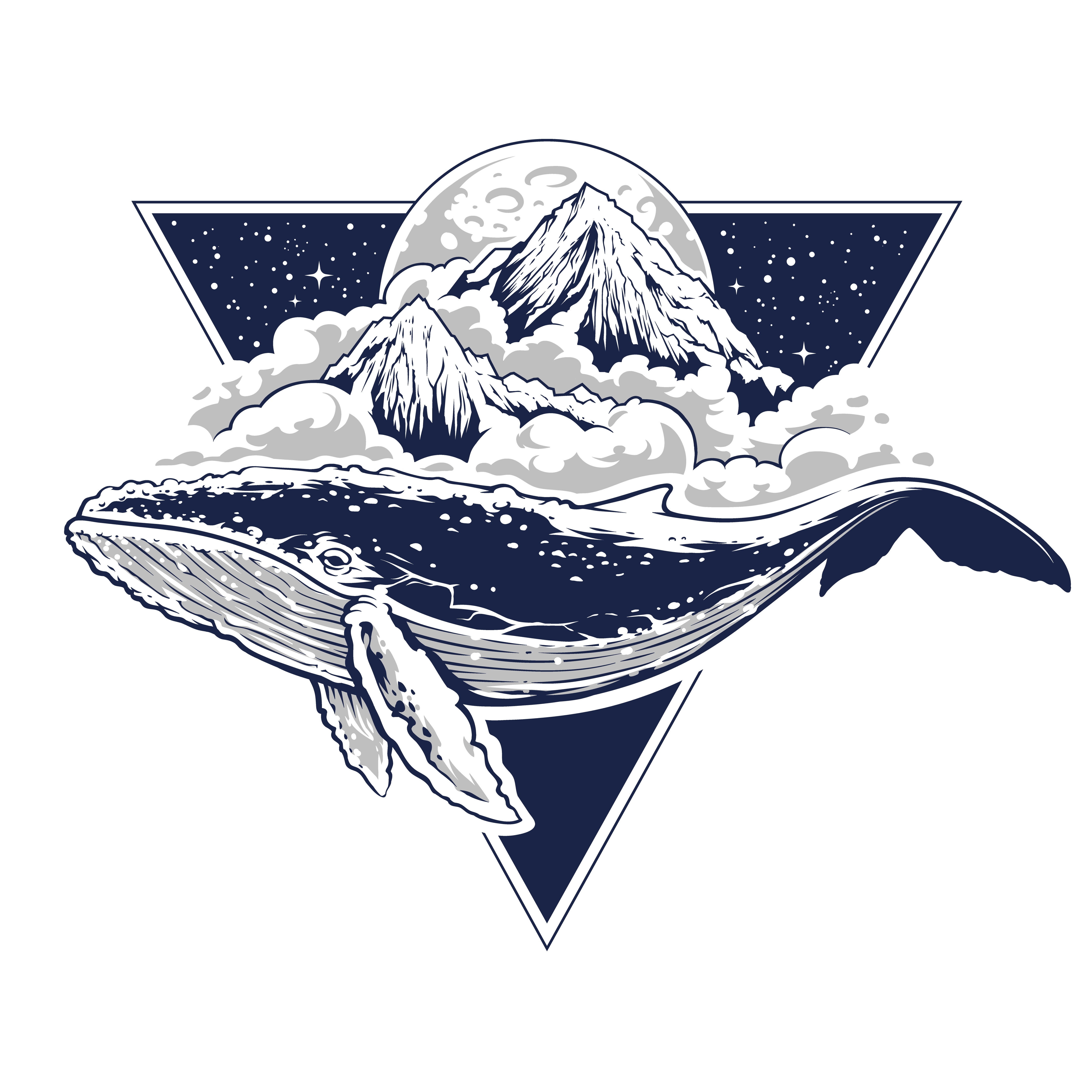 Whale Surreal Vector Art - Download Free Vector Art, Stock ...
