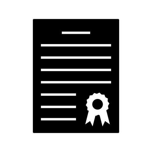 Ícone de glifo preto de diploma