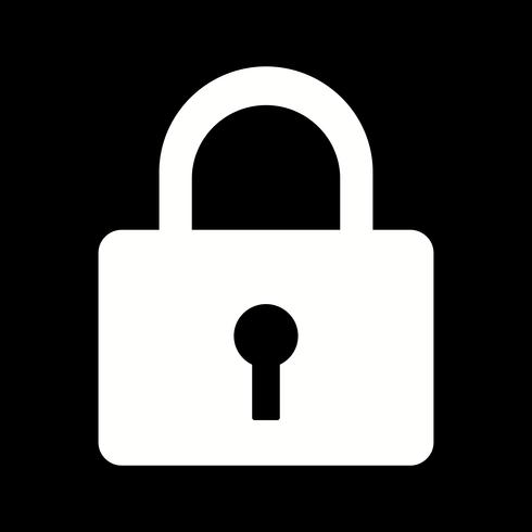 icône de verrou de vecteur