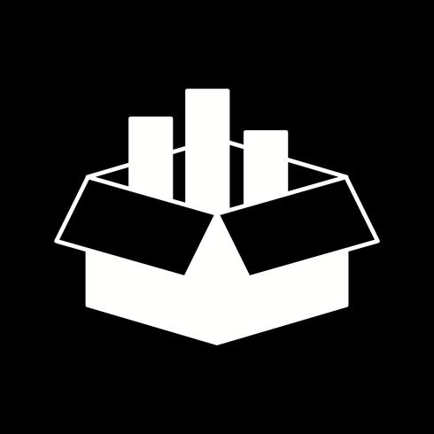 vector vracht doos pictogram