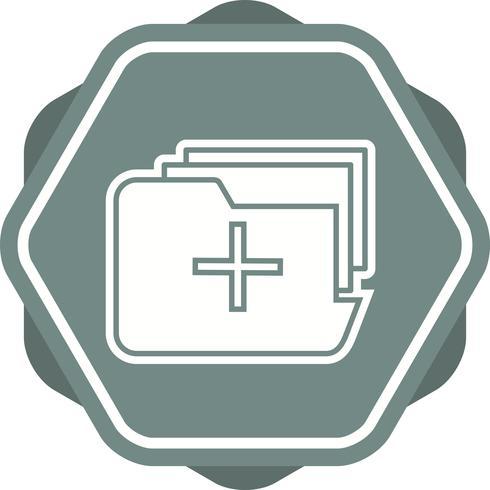 Ícone preenchido de pasta médica vetor
