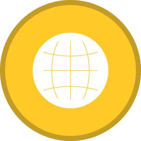 Världen glyph runt cirkel flerfärg